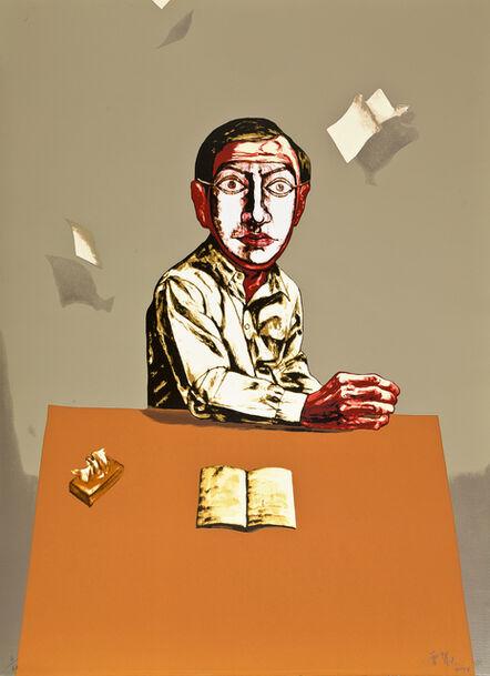 Zeng Fanzhi 曾梵志, 'Sitting Man (from Mask Series)', 2006
