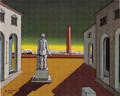 Giorgio de Chirico, 'Pomeriggio del filosofo (Piazza d'Italia)', ca. 1974