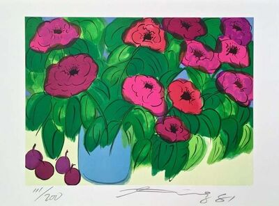 Walasse Ting 丁雄泉, 'Flowers', 1981