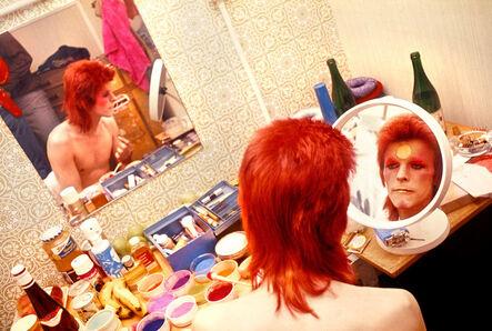 Mick Rock, 'Bowie, Makeup, Circle Mirror', 1973