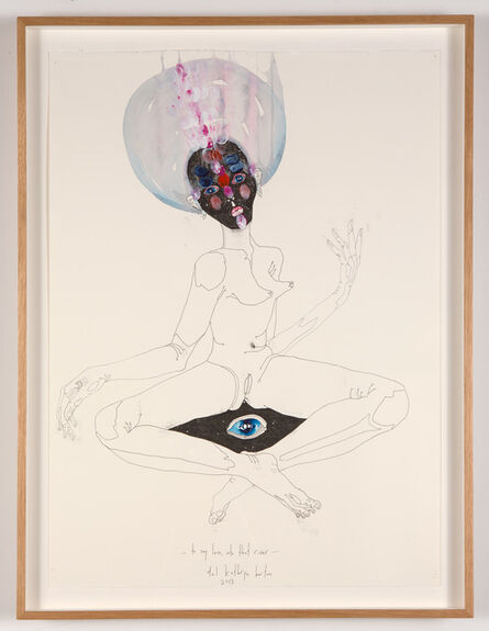 Del Kathryn Barton, 'to say less into that river', 2013