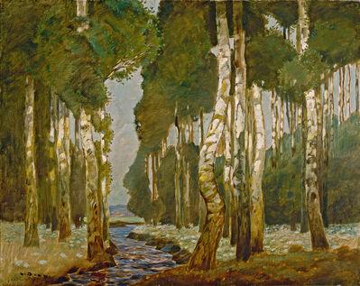 Ludwig Dill, 'Birkenwald (The Birch Grove)'