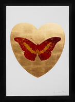Damien Hirst, ''I Love You' Butterfly, Red/Gold', 2015