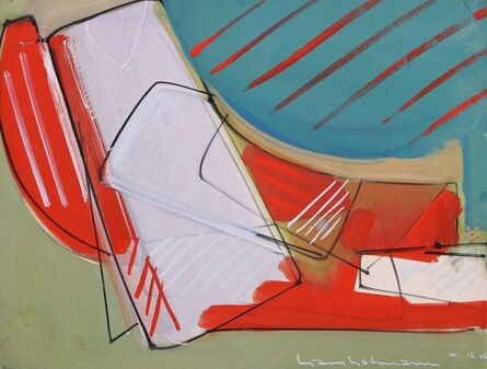 Hans Hofmann, 'Untitled (Red, blue, grey, with white slab)', 1946