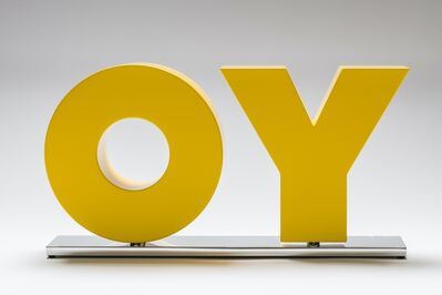 Deborah Kass, 'OY/YO (Yellow)', 2018