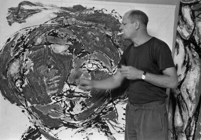 Tony Vaccaro, 'Jackson Pollock painting at his home, East Hampton, 1953 '