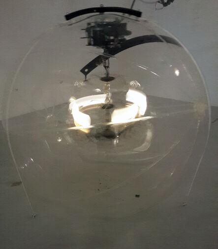 Vivien Roubaud, 'Gonflable, contrepoids, transmission scooter électrique, lustres à pampilles,  collecteur tournant, chaîne de moto, vingt-quatre volts,', 2015