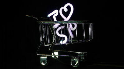 Alê Jordão, 'Mini Supermarket Trolley Neon - I Love São Paulo', 2019
