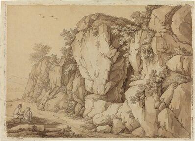 Johann August Nahl II, 'A Young Couple Seated near a Massive Rock Formation'