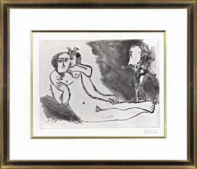 Pablo Picasso, 'Degas Fantasmant. Faune chuchotant à l'oreille d'une femme', 1971