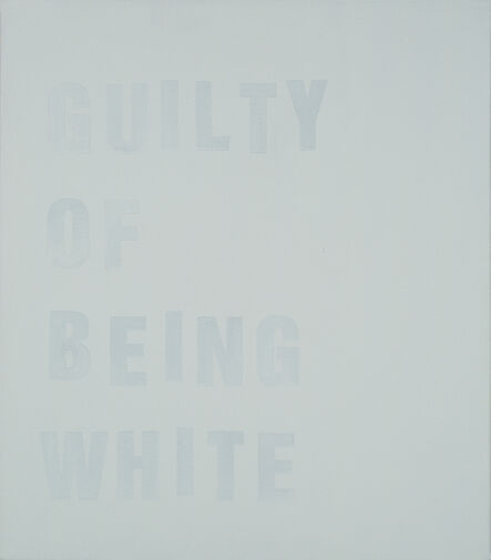 Chris Bors, 'Guilty of Being White (study)', 2015