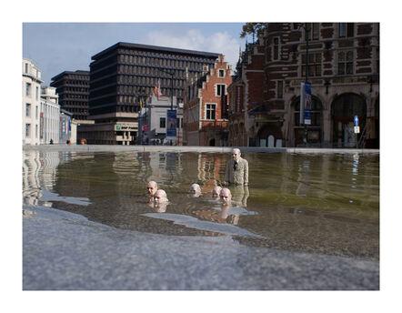 Isaac Cordal, 'Survivors. Brussels. Belgium', 2012
