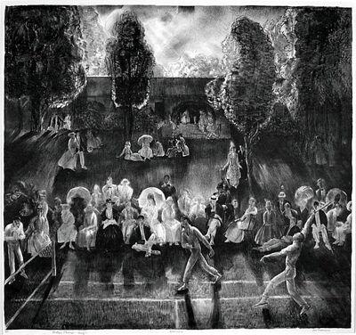 George Bellows, 'Tennis (Tennis Tournament)', 1921