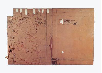 Robert Rauschenberg, 'Castelli / Small Turtle Bowl (Cardboard)', 1971