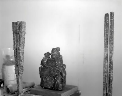 Sally Mann, 'Untitled (Vertical Sculptures Flanking Bronze)', 2005