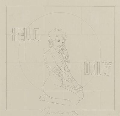 Mel Ramos, 'Hello Dolly (Pencil Drawing)', 1973