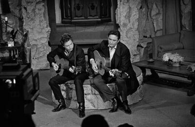 Jim Marshall, 'Johnny Cash & Bob Dylan, Johnny Cash Show', 1969
