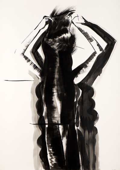 İnci Eviner, 'Girl Brushing Her Hair', 2014
