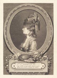Augustin de Saint-Aubin, 'Adrienne Sophie Marquise de ***', 1779