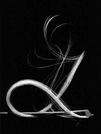 Suzie Maeder, 'Violin bow on black 1'
