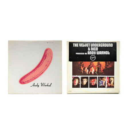 "Andy Warhol, '""Andy Warhol- Velvet Underground & Nico"", 1967, ""PEELED"" Torso/Black Banner Sticker, USA Mono Copy, MUSEUM QUALITY, RARE', 1967"