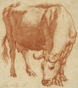Adriaen van de Velde, 'A Cow Grazing', 1663