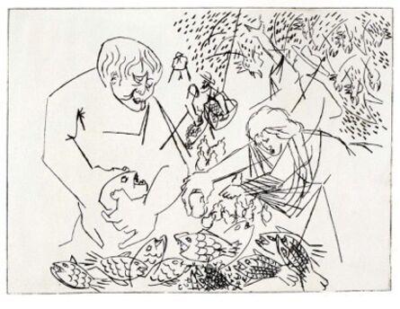 Jacob Lawrence, 'Fish Market', 1969