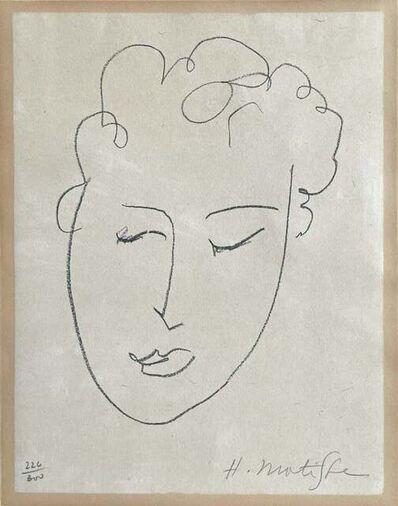 Henri Matisse, 'Tête de Femme (Fribourg livres illustrés 25; Claude Duthuit 23), 1948', 1948