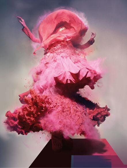 Nick Knight, 'Pink Powder, Lily Donaldson Wearing John Galliano', 2008