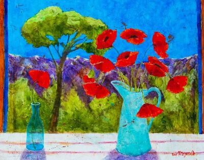 Sue Fitzgerald, 'Cevennes Mountains and Poppies', 2018