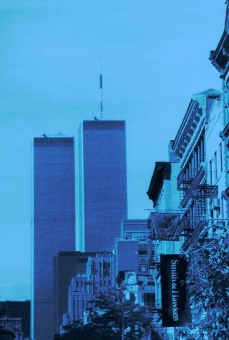 Isack Kousnsky, 'Twin Towers in Blue', 2010
