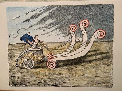 Giorgio de Chirico, ' La biga invincibile (Prima versione: manto blu)', 1969