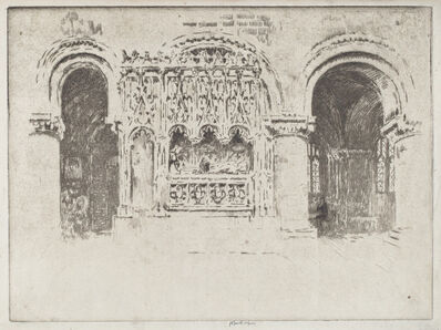 Joseph Pennell, 'The Founder's Tomb,  Church of Saint Bartholomew the Great', 1903