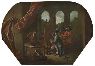 Christophe Huet, 'Singerie: The Painter', ca. 1739