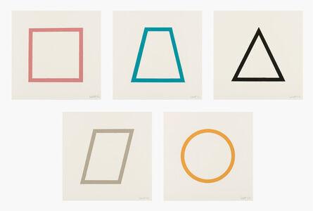 Sol LeWitt, 'Five Geometric Figures in Five Colors', 1986
