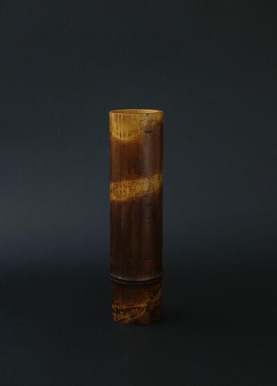 Matsumoto Hafū, 'Soot bamboo Shakuhachi flute hanging vase', 2017