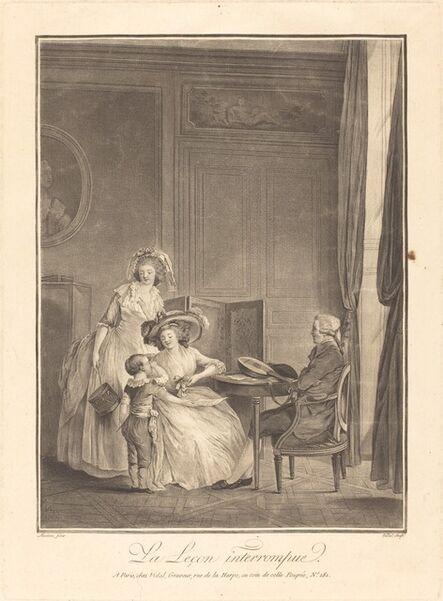 Geraud Vidal after Nicolas Lavreince, 'La lecon interrompue'