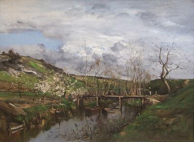 Antoine Jean Baptiste Guillemet, 'Barbizon Landscape', Late 19th Century