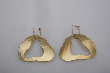 """Jacques Jarrige, 'Gold-plated earrings by Jacques Jarrige """"Cloud"""" ', 2014"""