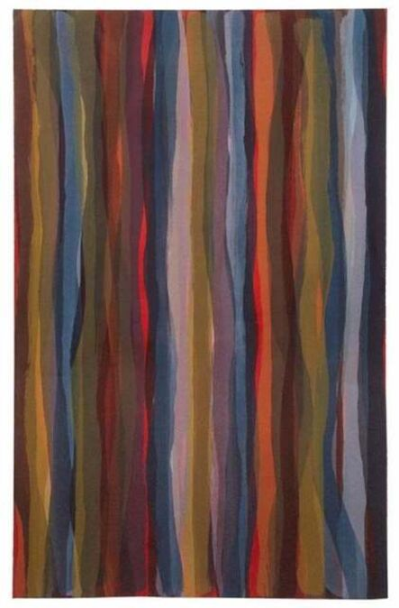 Sol LeWitt, 'Brushstrokes in Different Colors in Two Directions: One plate', 1993