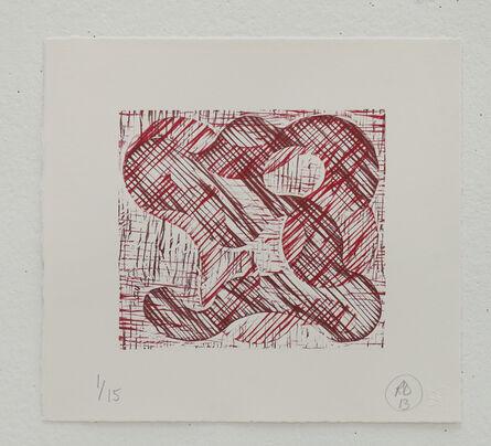 Richard Deacon, '1+1=10 Red/Dark Red', 2013
