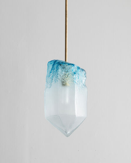 Jeff Zimmerman, 'Illuminated hand-blown glass pendant', 2015