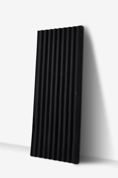 Jeremy Wafer, 'Black Corrugate Wall', 2017