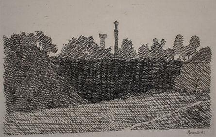 Giorgio Morandi, 'View of Montagnola, Bologna   Veduta della montagnola di Bologna', 1932