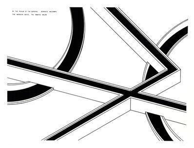 Robert Morris (b. 1931), 'Separate Walkways: The Wardens Above, the Inmates Below', 1978