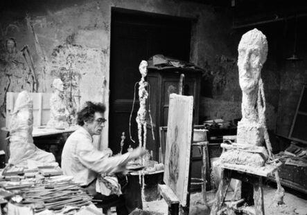 Ernst Scheidegger, 'Alberto Giacometti at work in his atelier, Paris', ca. 1957