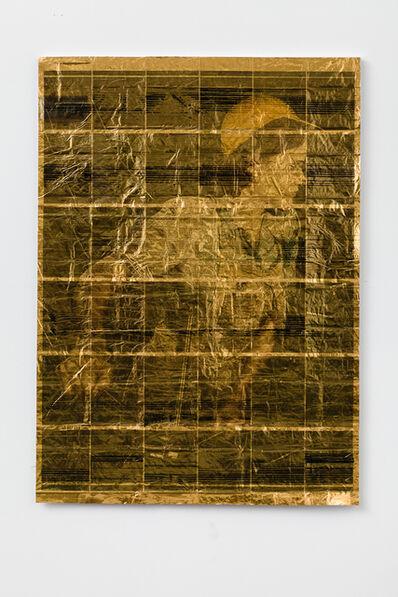 Servane Mary, 'Untitled (Blue Shirt On Gold)', 2014