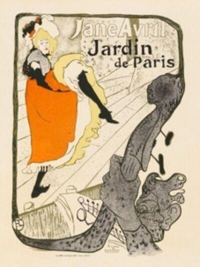 Henri de Toulouse-Lautrec, 'Jane Avril - Jardin De Paris', 1898