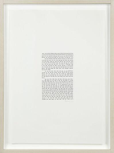 Irma Blank, 'Eigenschriften', 1969