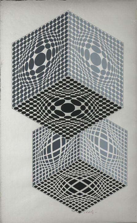 Victor Vasarely, 'Vega Kocka', 1987